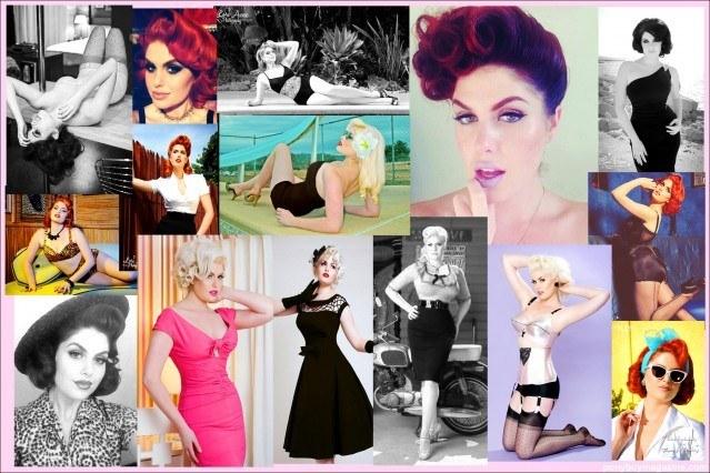 Beautiful bomshell Doris Mayday, photo collage for Ponyboy magazine.