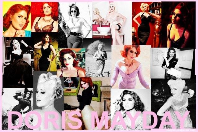 Photo collage of the ravishing model Doris Mayday for Ponyboy Magazine.