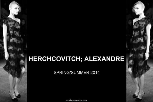 Alexandre Herchcovitch Spring Summer 2014 photographed by Alexander Thompson for Ponyboy Magazine.
