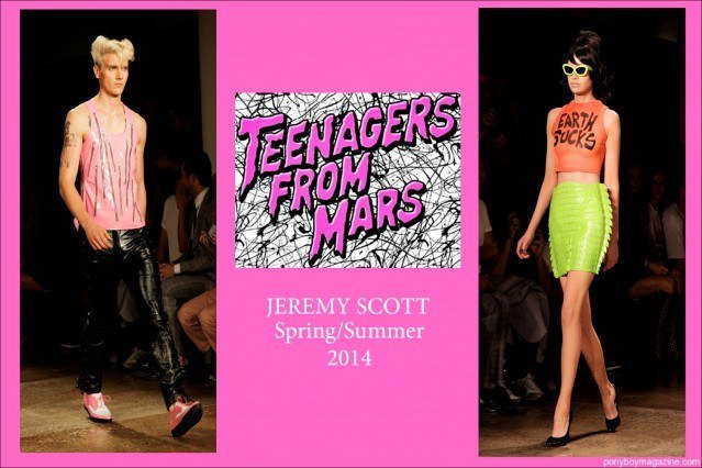 Teenagers from Mars Spring Summer 2014 Jeremy Scott Collection photographed by Alexander Thompson for Ponyboy Magazine.