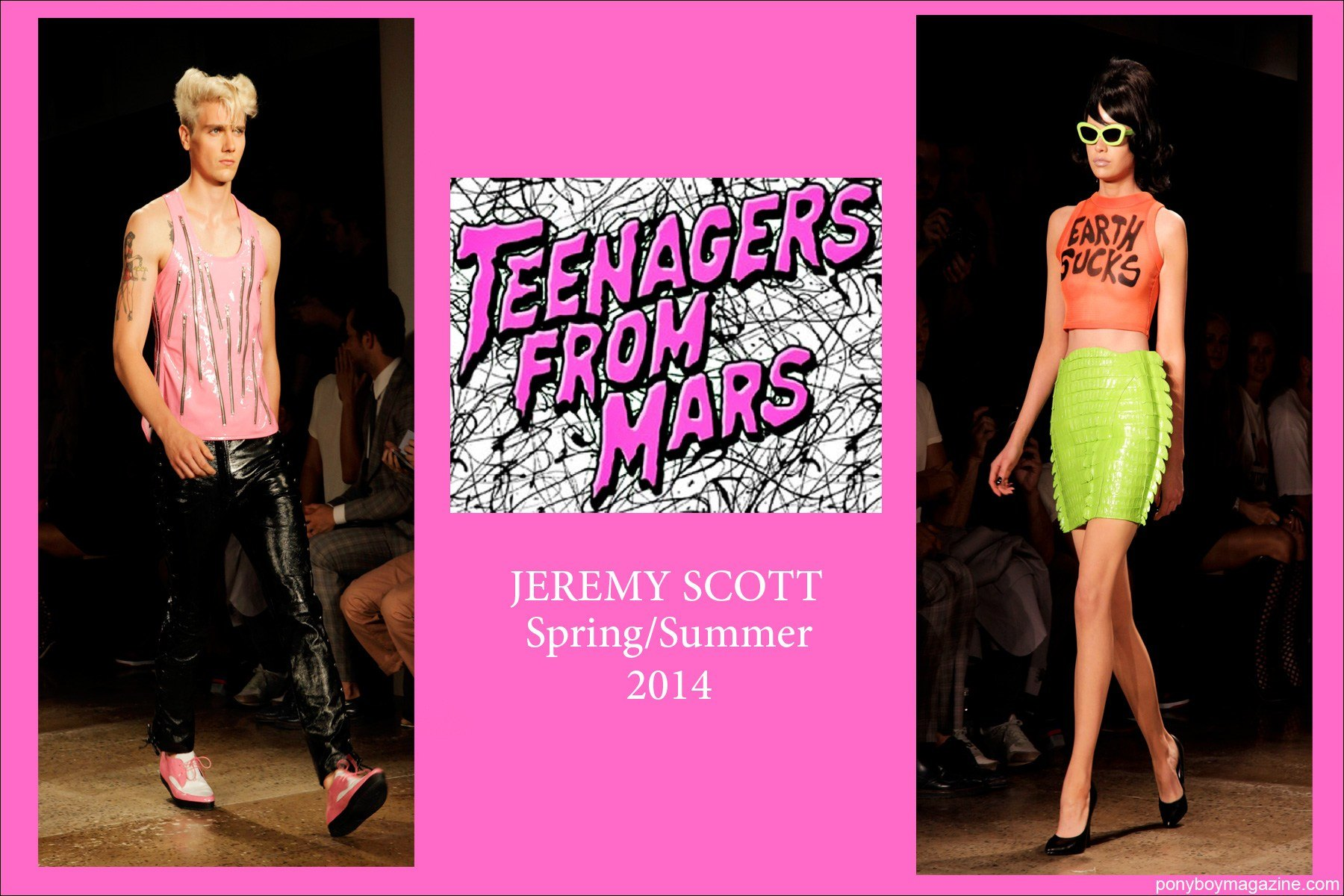 Teenagers from Mars SS2014 Jeremy Scott collection, photographed by Alexander Thompson for Ponyboy Magazine.