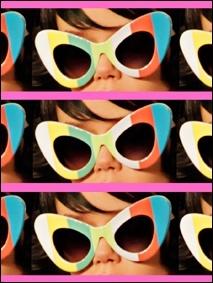 Jeremy Scott oversized sunglasses SS 2014 photographed by Alexander Thompson for Ponyboy Magazine.