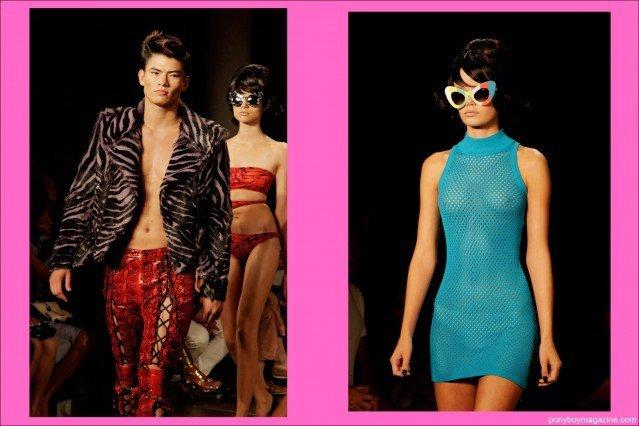 Models walking for Jeremy Scott Spring Summer 2014, photographed by Alexander Thompson for Ponyboy Magazine.