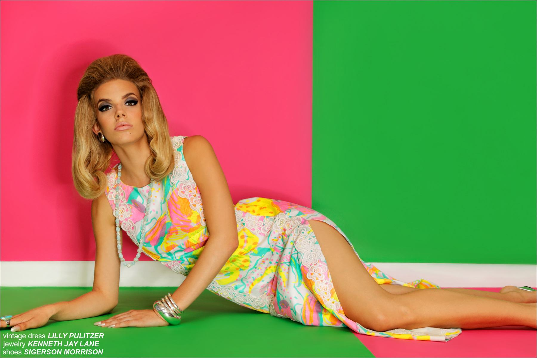 24c8e22d05af11 Muse Model Greta Hanza in a vintage Lilly Pulitzer dress, photographed by  Alexander Thompson for