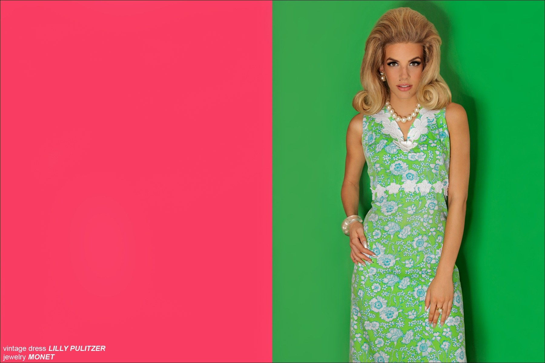 VIntage Lilly Pulitzer dress, worn by Model Greta Hanza from Muse Models NYC, photographed by Alexander Thompson.
