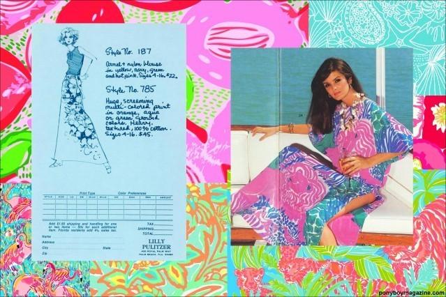 Colorful vintage Lilly Pulitzer clothing for Ponyboy Magazine.