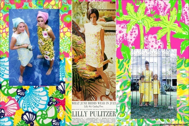 Wealthy socialites in vintage Lilly Pulitzer for Ponyboy Magazine.