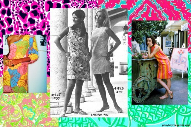 Vintage Lilly Pulitzer colorful clothing in Ponyboy Magazine.
