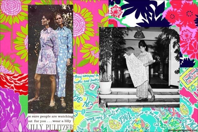 Vintage photos of Lilly Pulitzer clothing for Ponyboy Magazine.