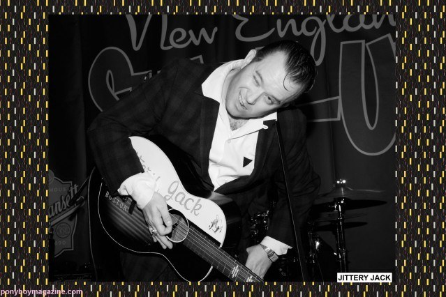 The amazing rockabilly performer Jittery Jack onstage at The New England Shakeup, photographed for Ponyboy Magazine by Alexander Thompson.