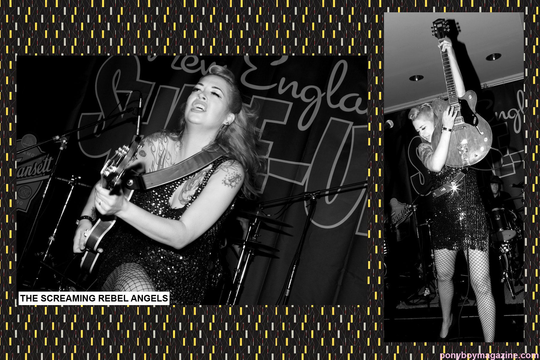 The beautiful Laura Rebel Angel at The New England Shake-Up rockabilly weekender, photographed by Alexander Thompson.