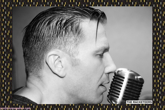 Close up of The Racketeers performing live at rockabilly weekender The New England Shake-up, for Ponyboy Magazine by Alexander Thompson.