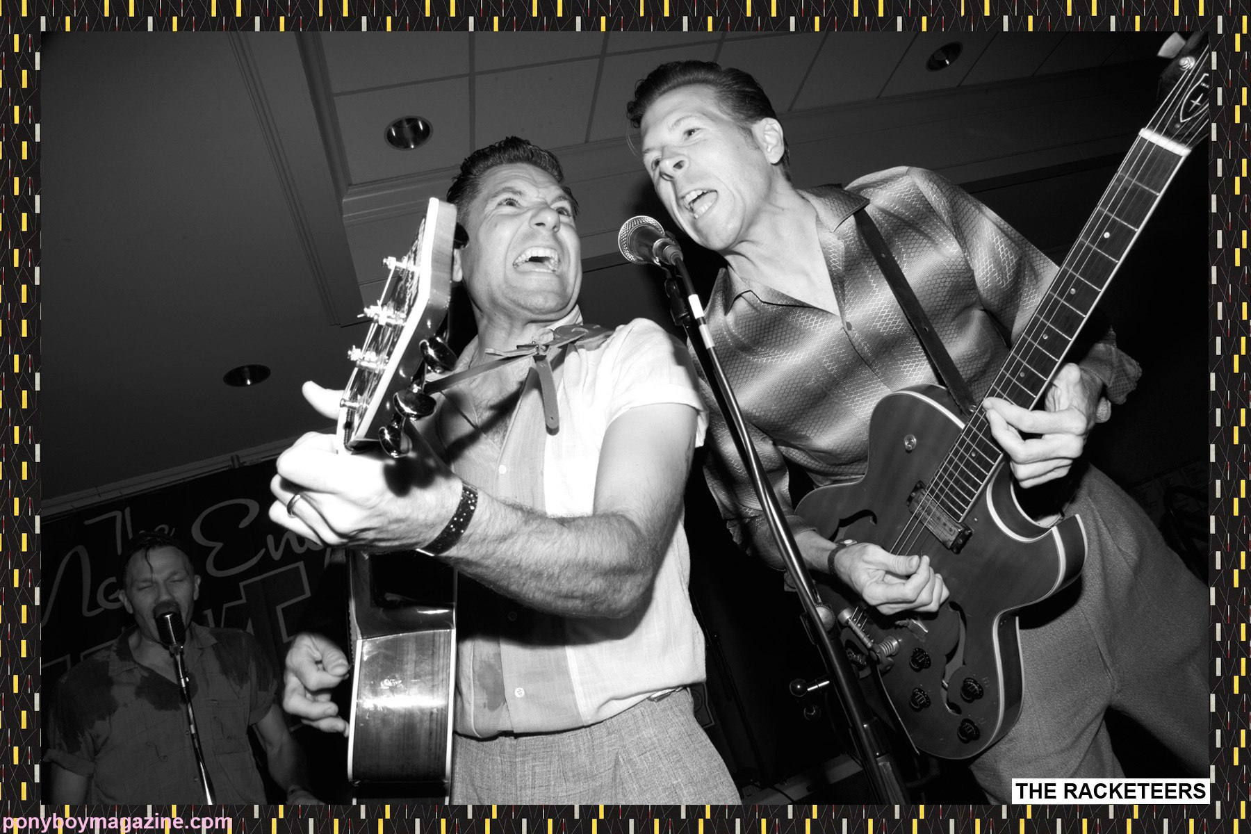 Boston rockabilly band live at The New England Shake-Up, photographed by Alexander Thompson for Ponyboy Magazine.