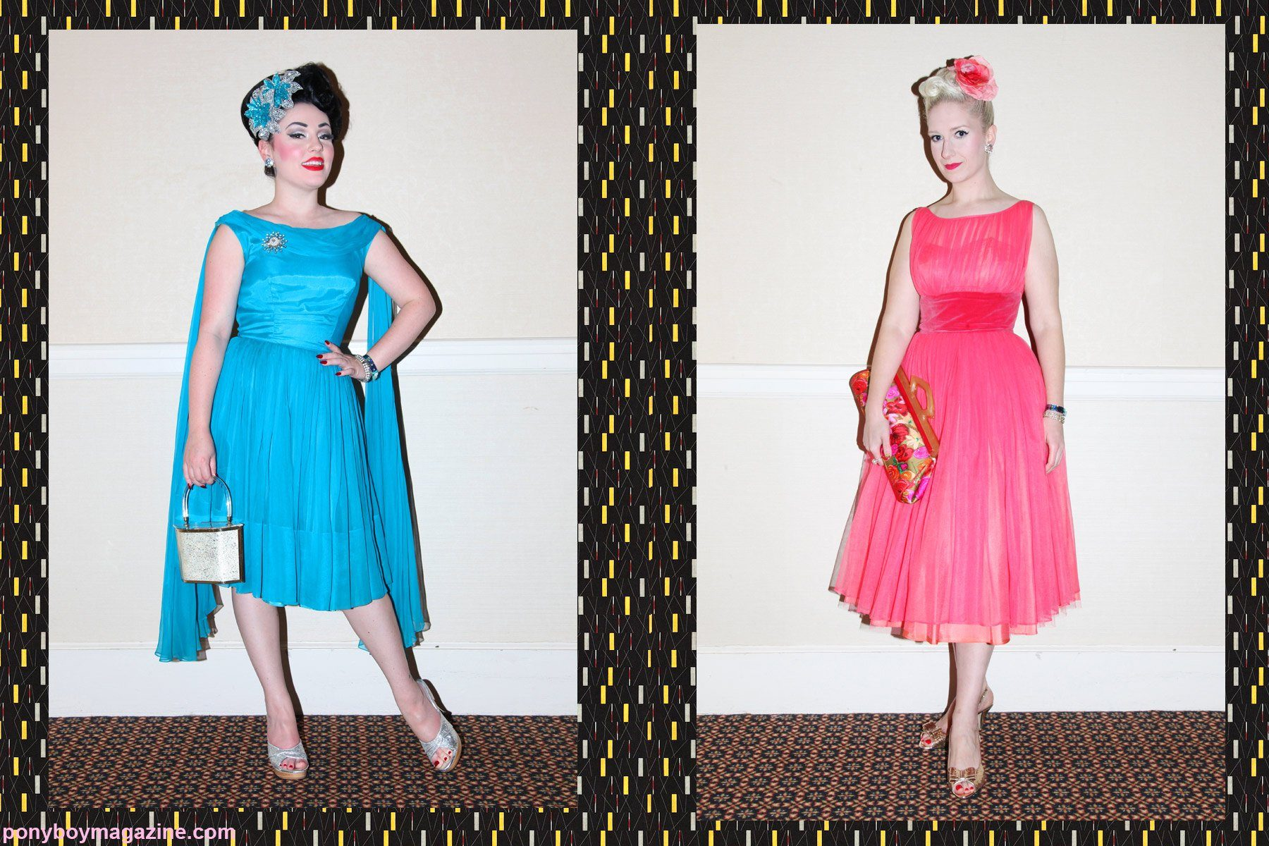 Lovely women's rockabilly vintage fashions at The New England Shake-up, photographed by Alexander Thompson.