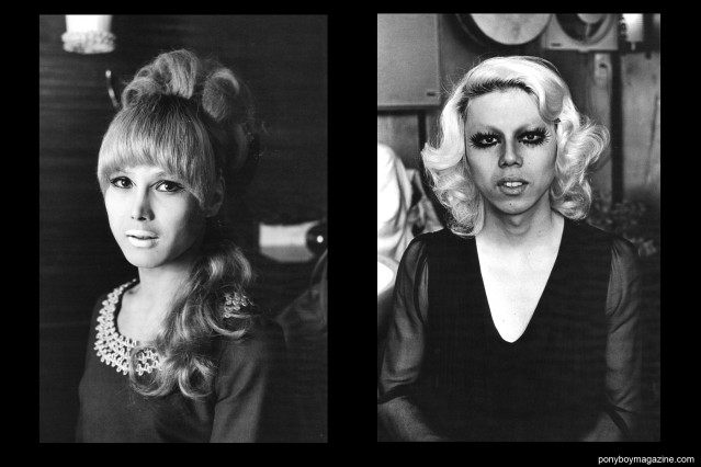 Japanese transvestites in the 1960's & 70's in the book Gangs of Kabukicho by brilliant photographer Watanabe Katsumi, published by Andrew Roth/PPP Editions, Ponyboy Magazine.