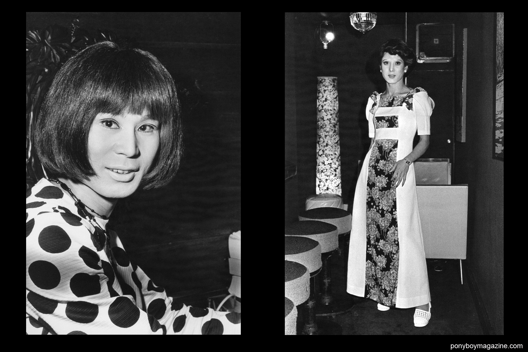 JapaDrag queens in 1960's-70's Tokyo photographed by Watanabe Katsumi in the amazing book Gangs of Kabukicho.