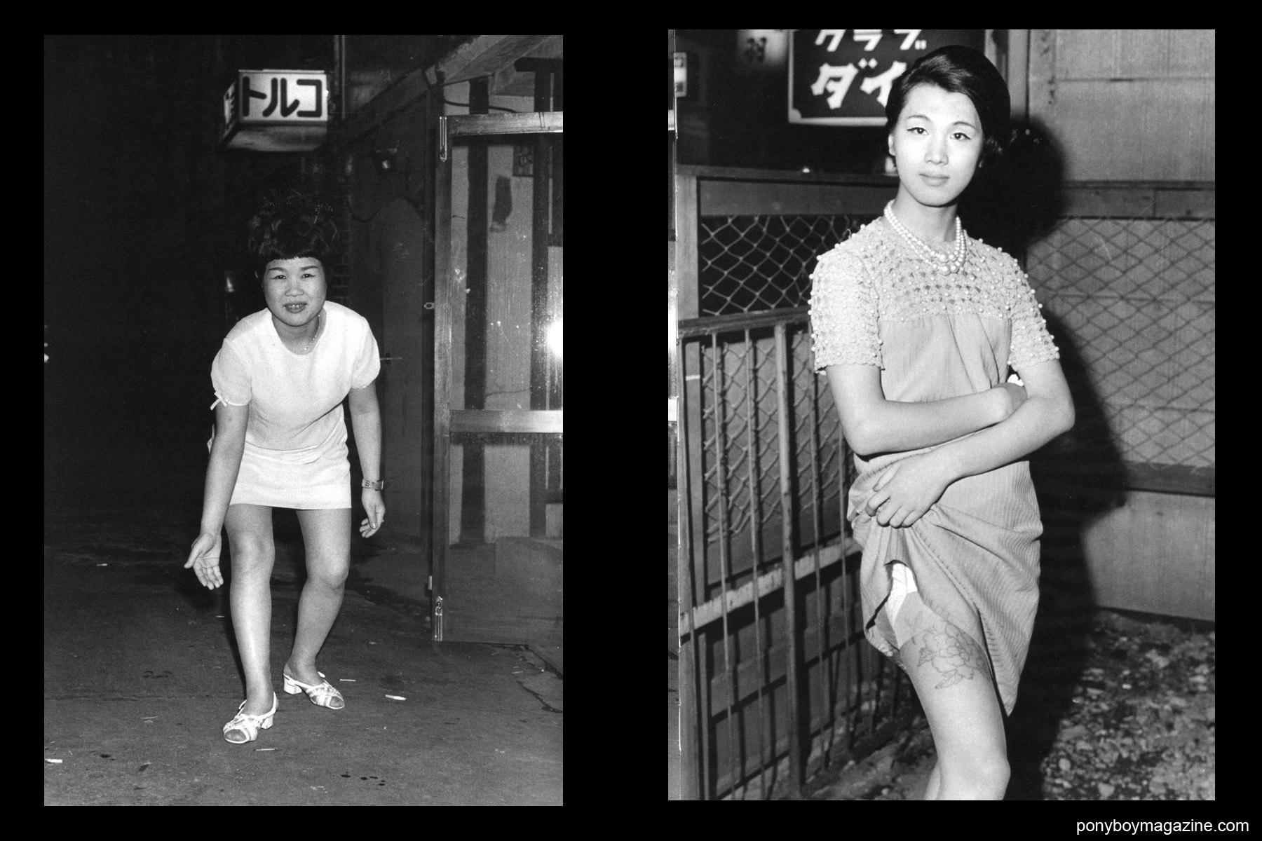 Japanese transvestites in the 1960's photographed by Watanabe Katsumi.