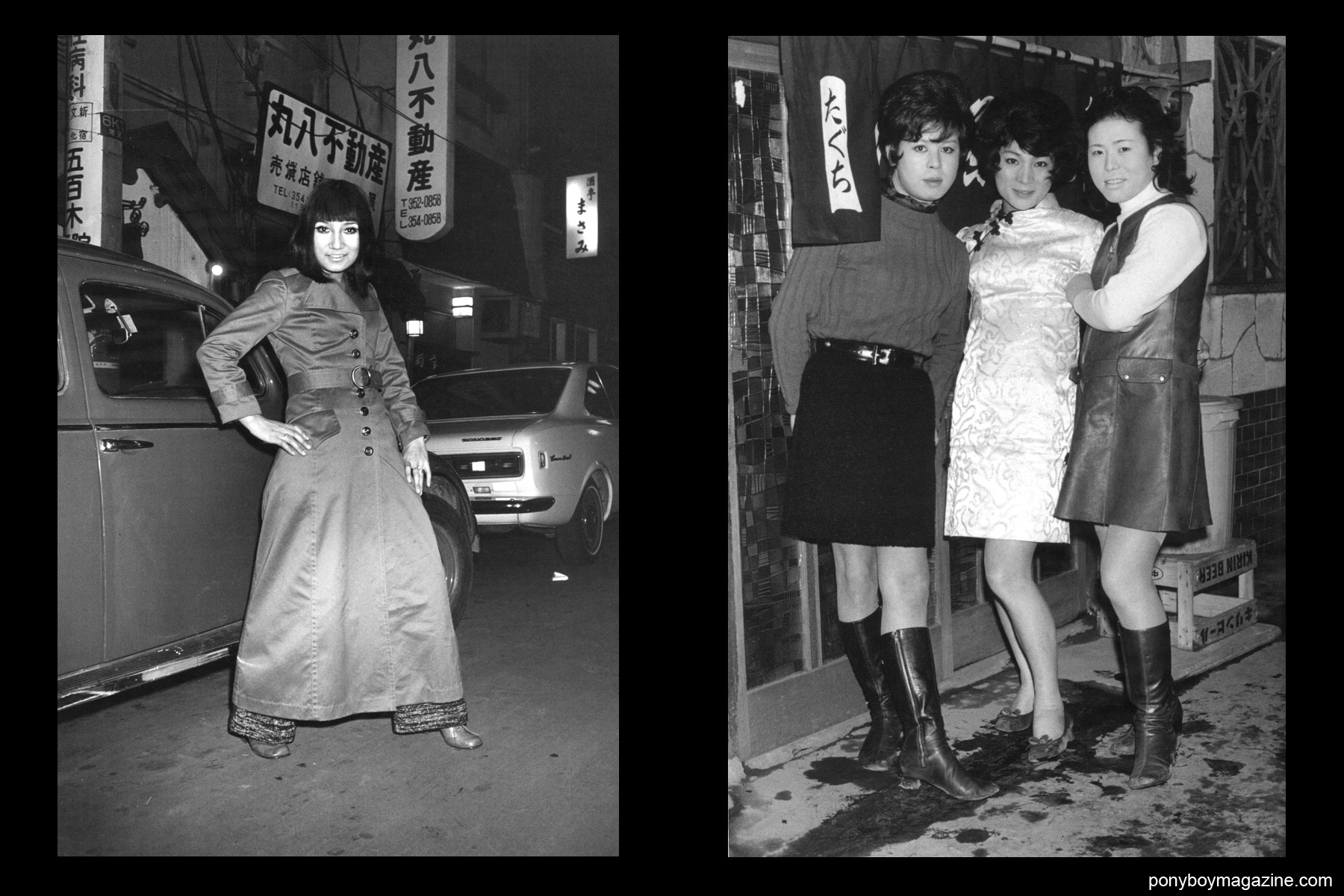 Transvestites in 1960's Tokyo in the book Gangs of Kabukicho by photographer Watanabe Katsumi.