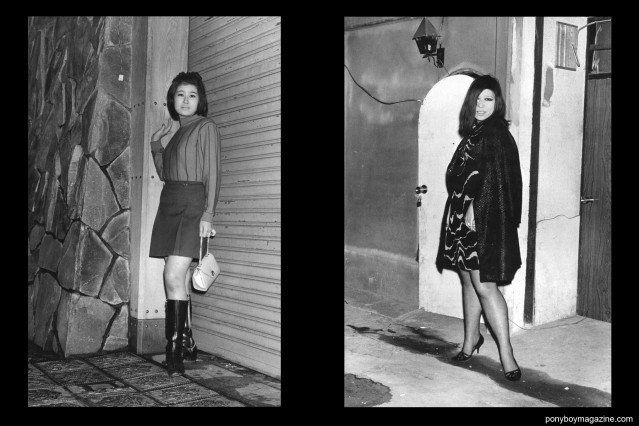 Japanese prostitutes on the streets of Tokyo from the book Gangs of Kabukicho by photograhper Watanabe Katsumi.