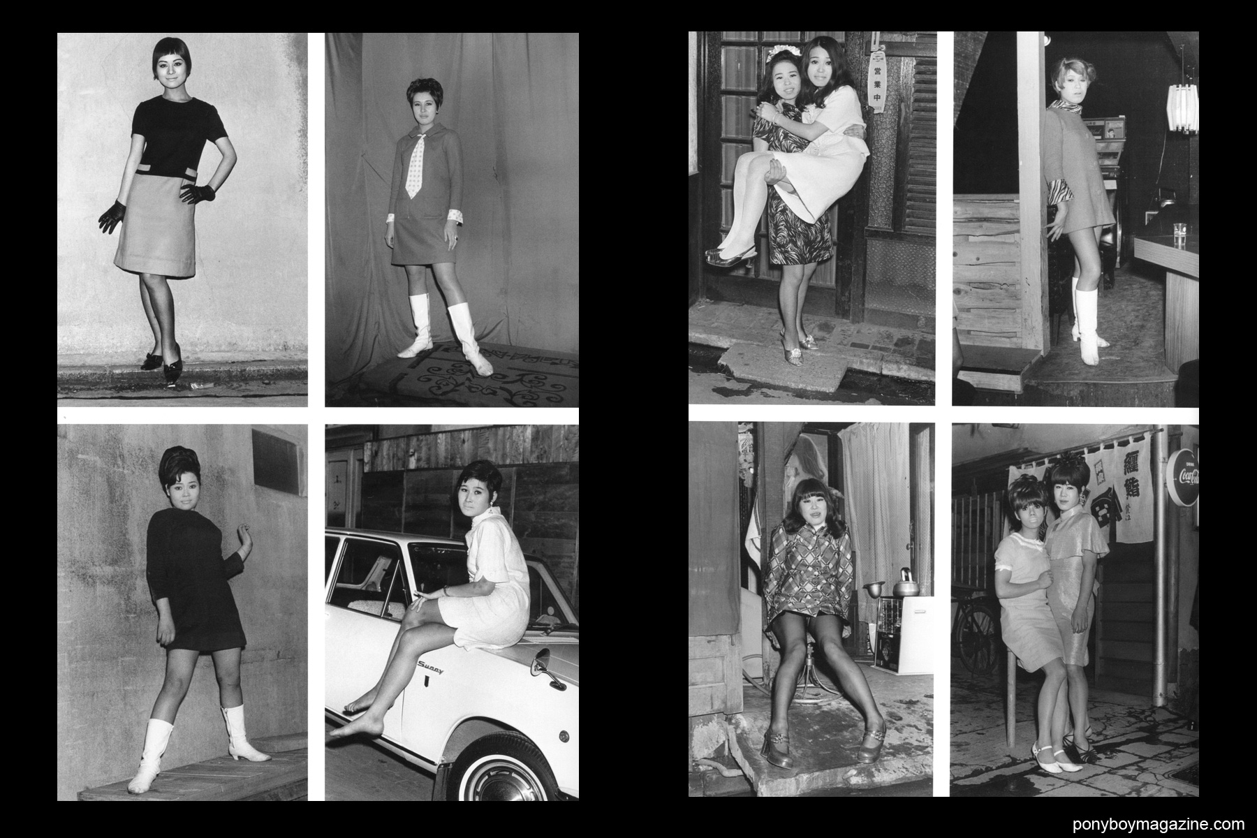 Japanese prostitutes and transvestites in 1960's Tokyo photographed by Watanabe Katsumi in the book Gangs of Kabukicho.