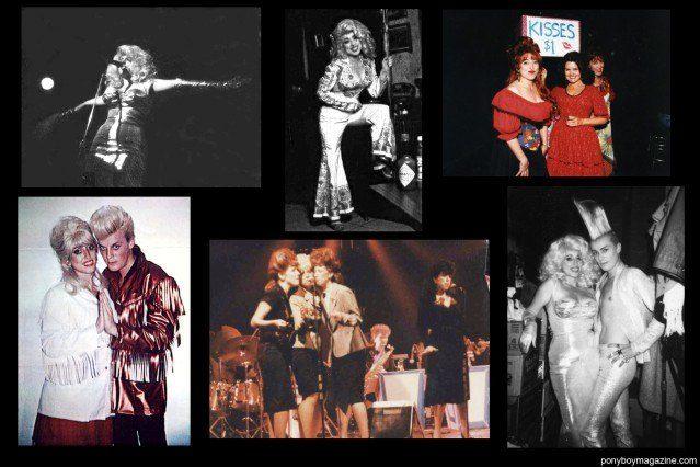 Assorted vintage photos of NYC nightclub legend Katy K and John Sex for Ponyboy Magazine.