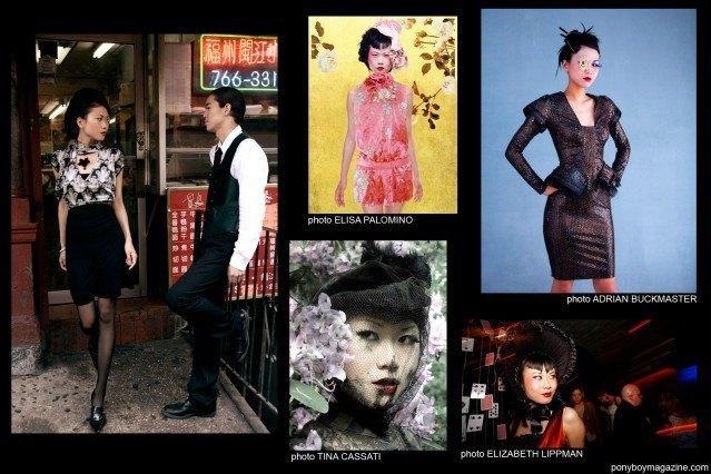Photos of model Shien Lee by Elisa Palomino, Adrian Buckmaster, Tina Cassati and Elizabeth Lippman for Ponyboy Magazine.