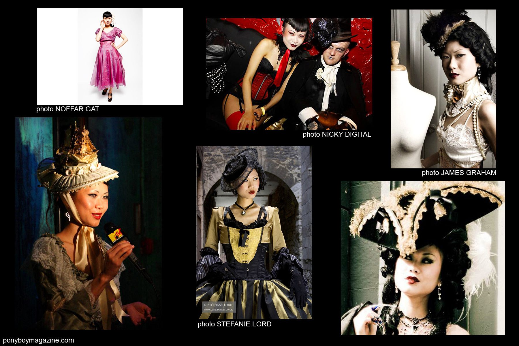 Collage of photographs of Shien Lee for Ponyboy Magazine.