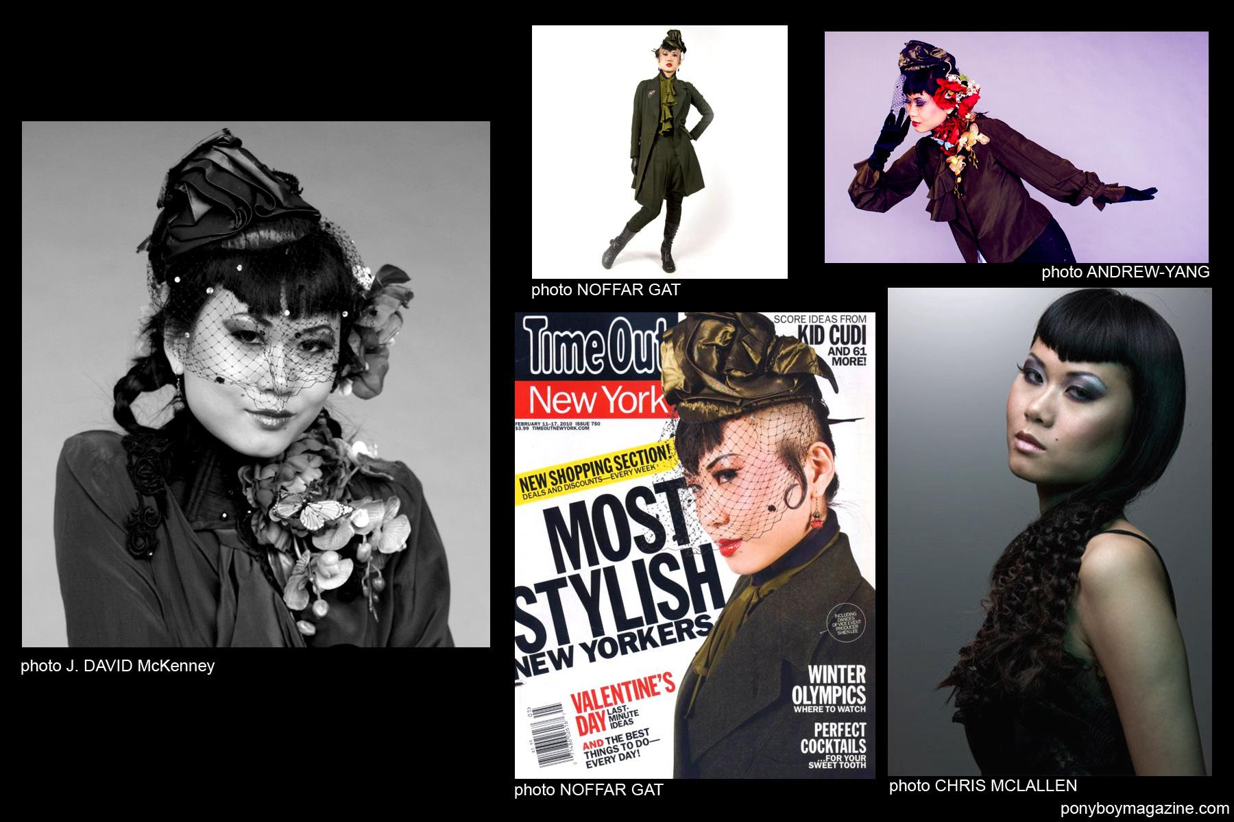Shien Lee images including her TimeOut NY cover for Ponyboy Magazine.