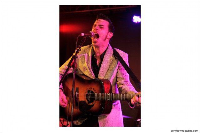 Rockabilly legend Cash O'Riley photographed by Alexander Thompson at Viva Las Vegas weekender for Ponyboy Magazine.
