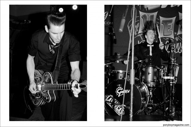 Cash O'Riley's band The DownRight Daddies on stage at Viva Las Vegas rockabilly weekender, photographed for Ponyboy Magazine by Alexander Thompson.