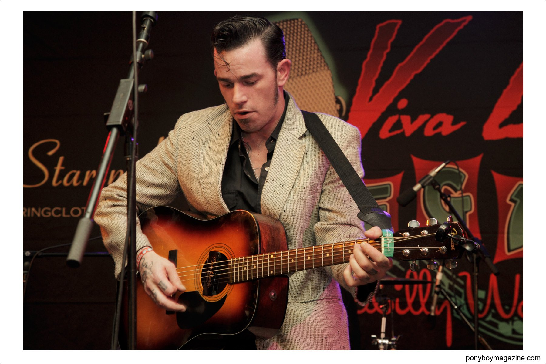 Portrait of Cash O'Riley, rockabilly performer, at Viva Las Vegas for Ponyboy Magazine by Alexander Thompson.