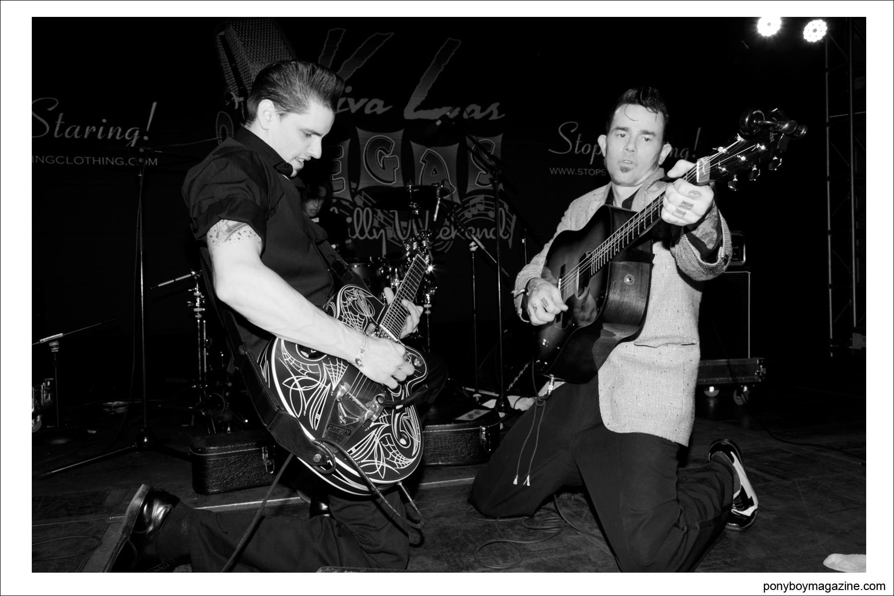 Cash O'Riley and The DownRight Daddies performing at annual Viva Las Vegas Rockabilly weekender, by Alexander Thompson for Ponyboy Magazine.