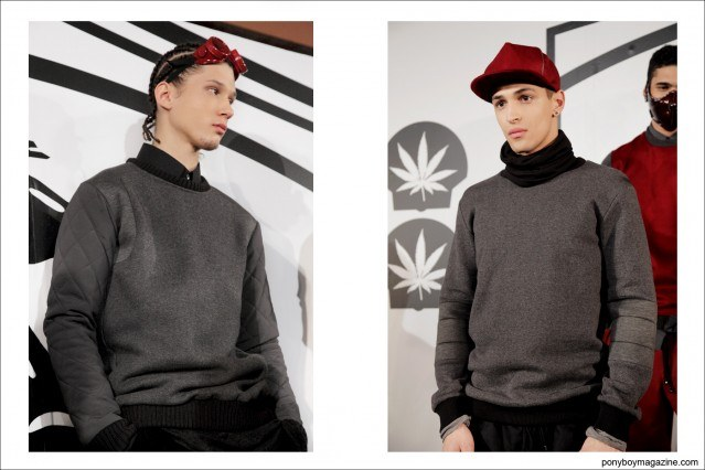 Rochambeau A/W 2014 collection at Milk Studios in New York City, photographed by Alexander Thompson for Ponyboy Magazine.