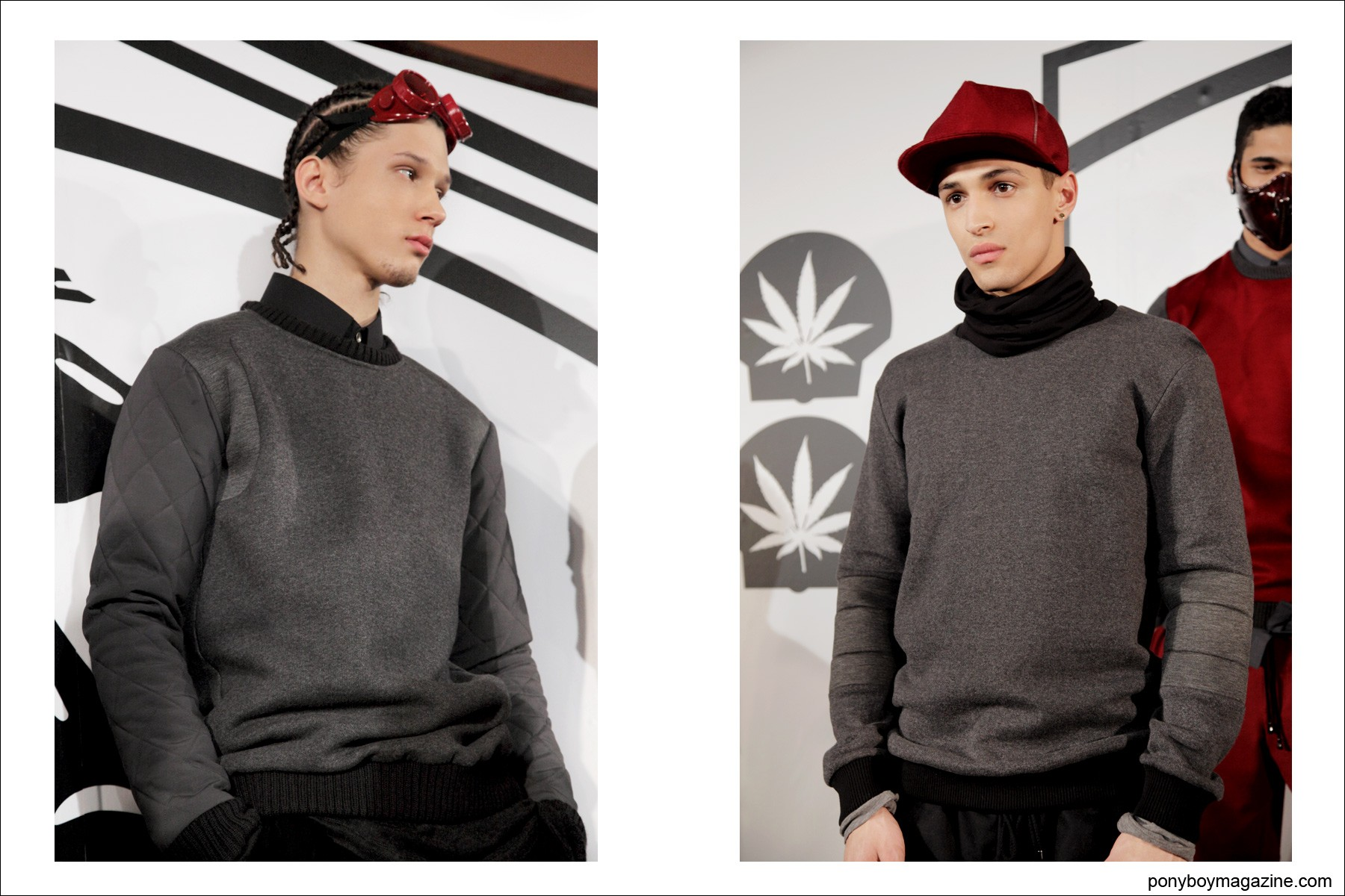 Rochambeau A/W 2014 men's collection, photographed by Alexander Thompson at Milk Studios in NYC, for Ponyboy Magazine.