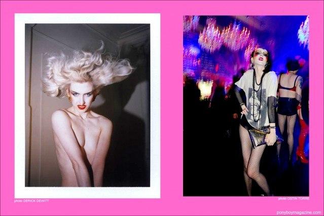 Images of fashion model Stella Rose Saint Clair for Ponyboy Magazine in New York City.