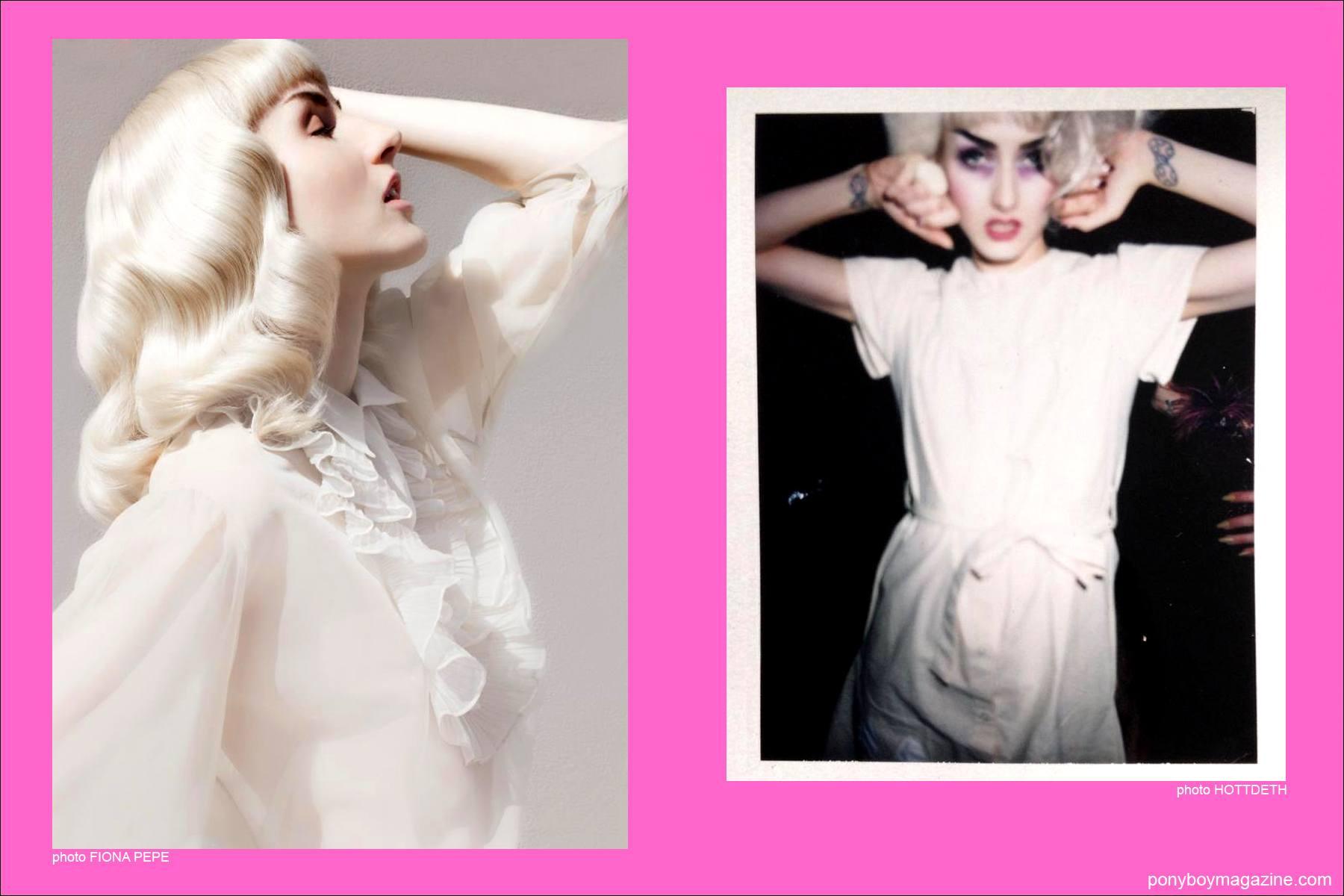 More modeling photos of edgy New York City model Stella Rose Saint Clair for Ponyboy Magazine.
