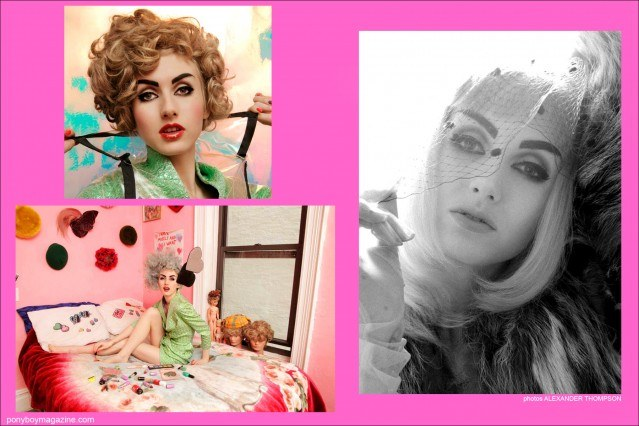 Photos of model Stella Rose Saint Clair for Ponyboy Magazine New York City photographed by Alexander Thompson.