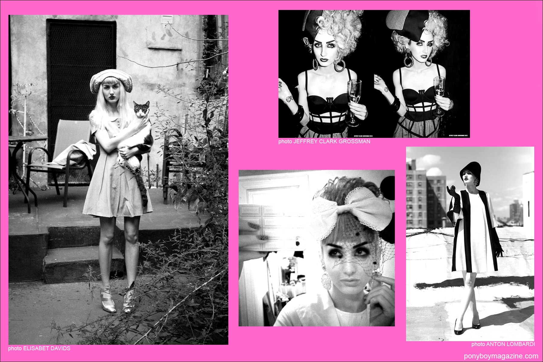 B&W images of New York City model Stella Rose Saint Clair for Ponyboy Magazine.
