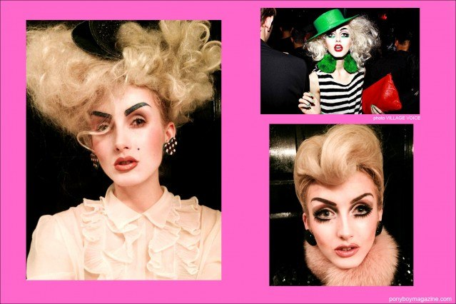 Assorted images of model Stella Rose Saint Clair for Ponyboy Magazine New York City.