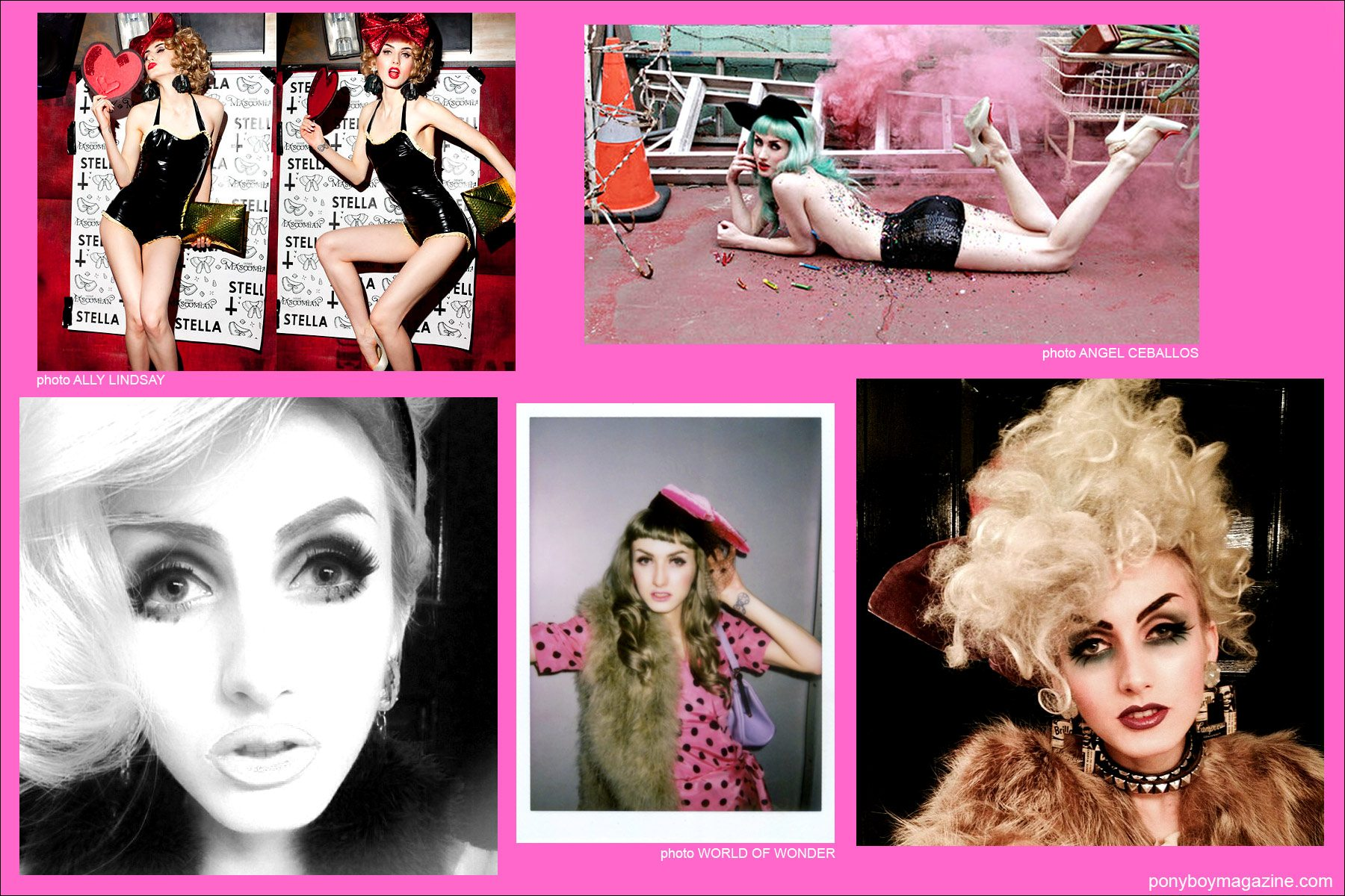 Photos of model and blogger Stella Rose Saint Clair for Ponyboy Magazine New York City.