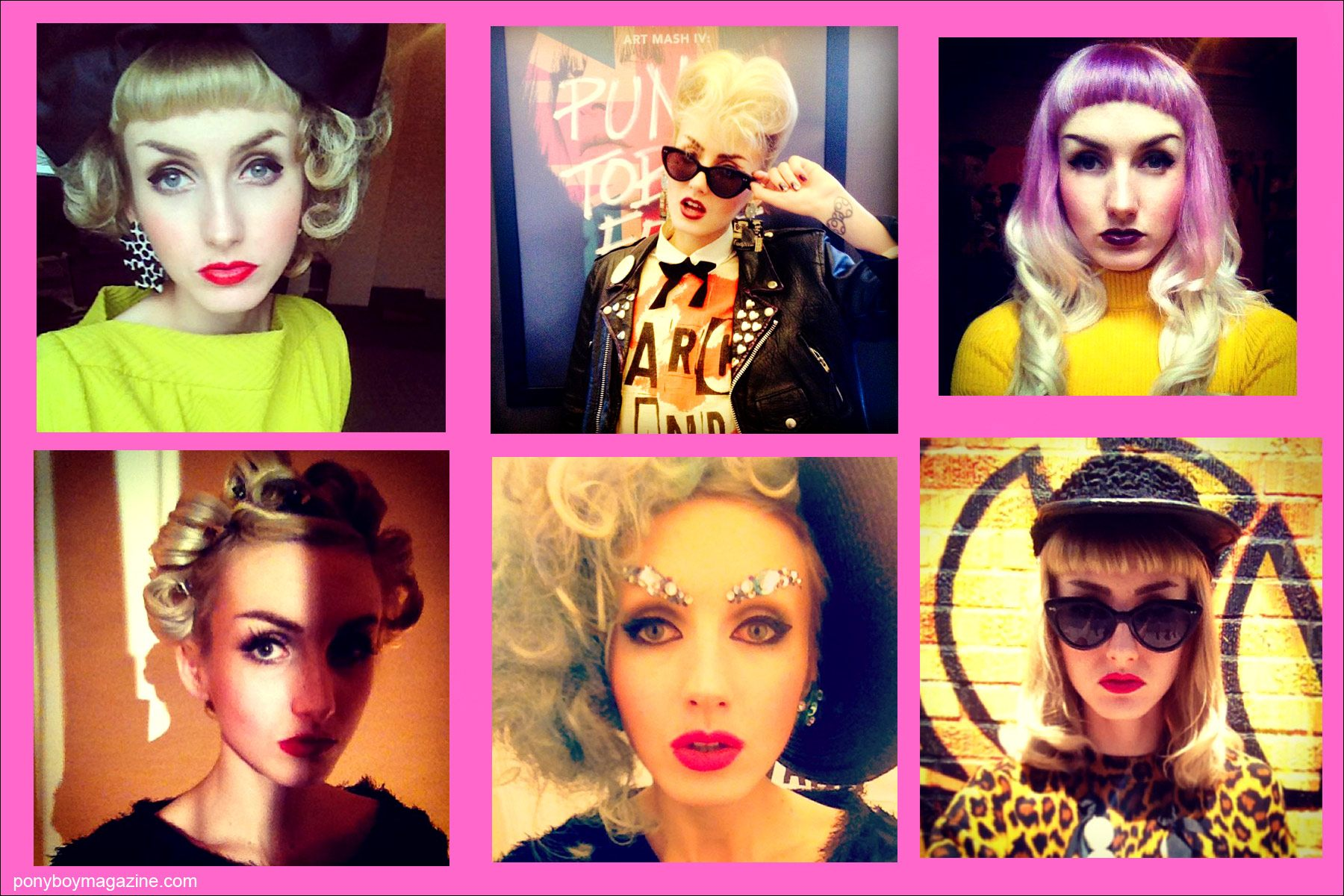 Self portraits of New York City model Stella Rose Saint Clair for Ponyboy Magazine.