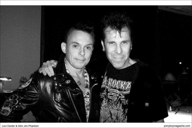 Photo of Neo-Rockabilly legends Levi Dexter & Slim JIm Phantom, Ponyboy Magazine.
