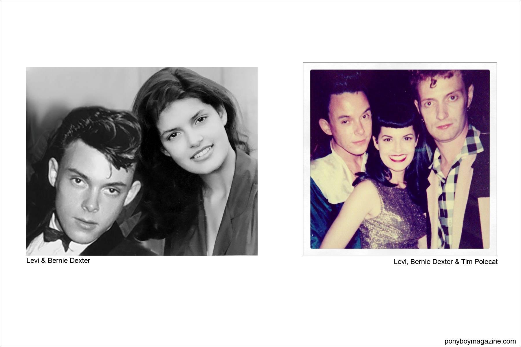 Levi Dexter with wife/model Bernie Dexter, as well as Tim Polecat, Ponyboy Magazine.