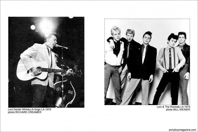 Photos of Rockabilly legend Levi Dexter & The Rockats, Ponyboy Magazine.