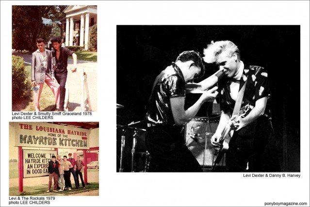 Old photos of Rockabilly performers Levi Dexter, Smutty Smiff and Danny B. Harvey, Ponyboy Magazine.