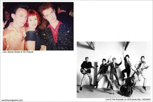 Photos of Levi & Bernie Dexter, Tim Polecat and Levi & The Rockats, Ponyboy Magazine.