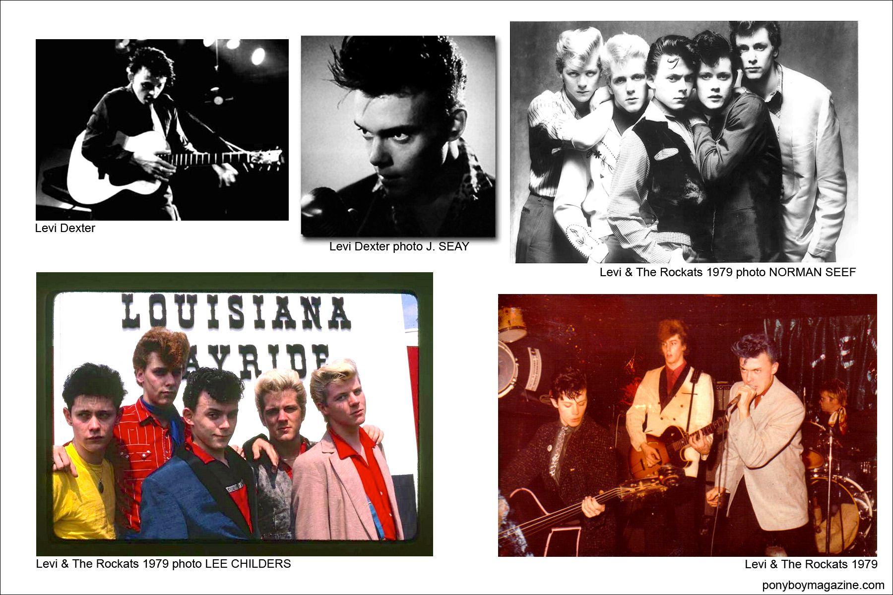 Various photos of Levi Dexter, Levi & The Rockats for Ponyboy Magazine.