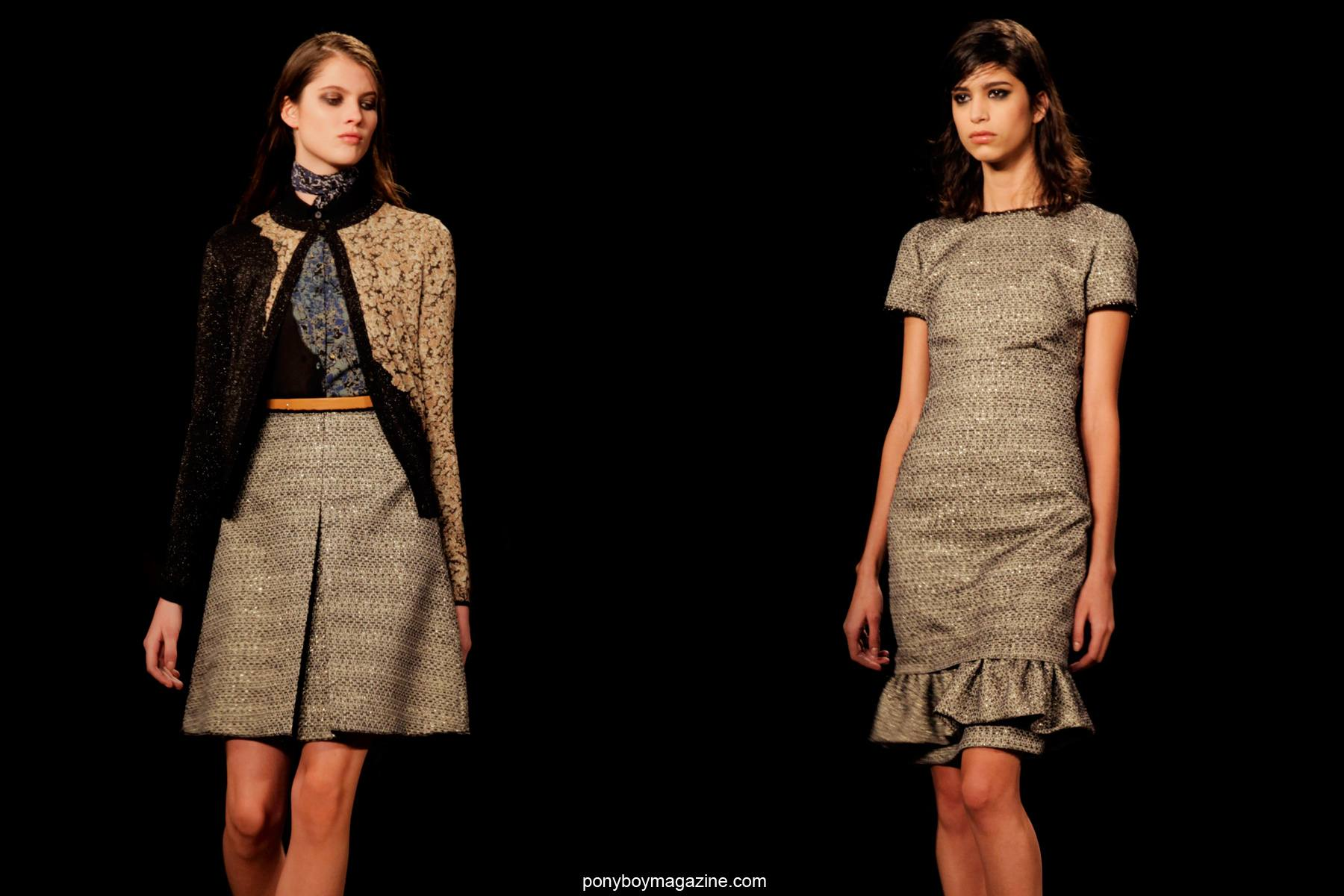 Models for Sophie Theallet A/W 2014 runway show, photographed by Alexander Thompson for Ponyboy Magazine.