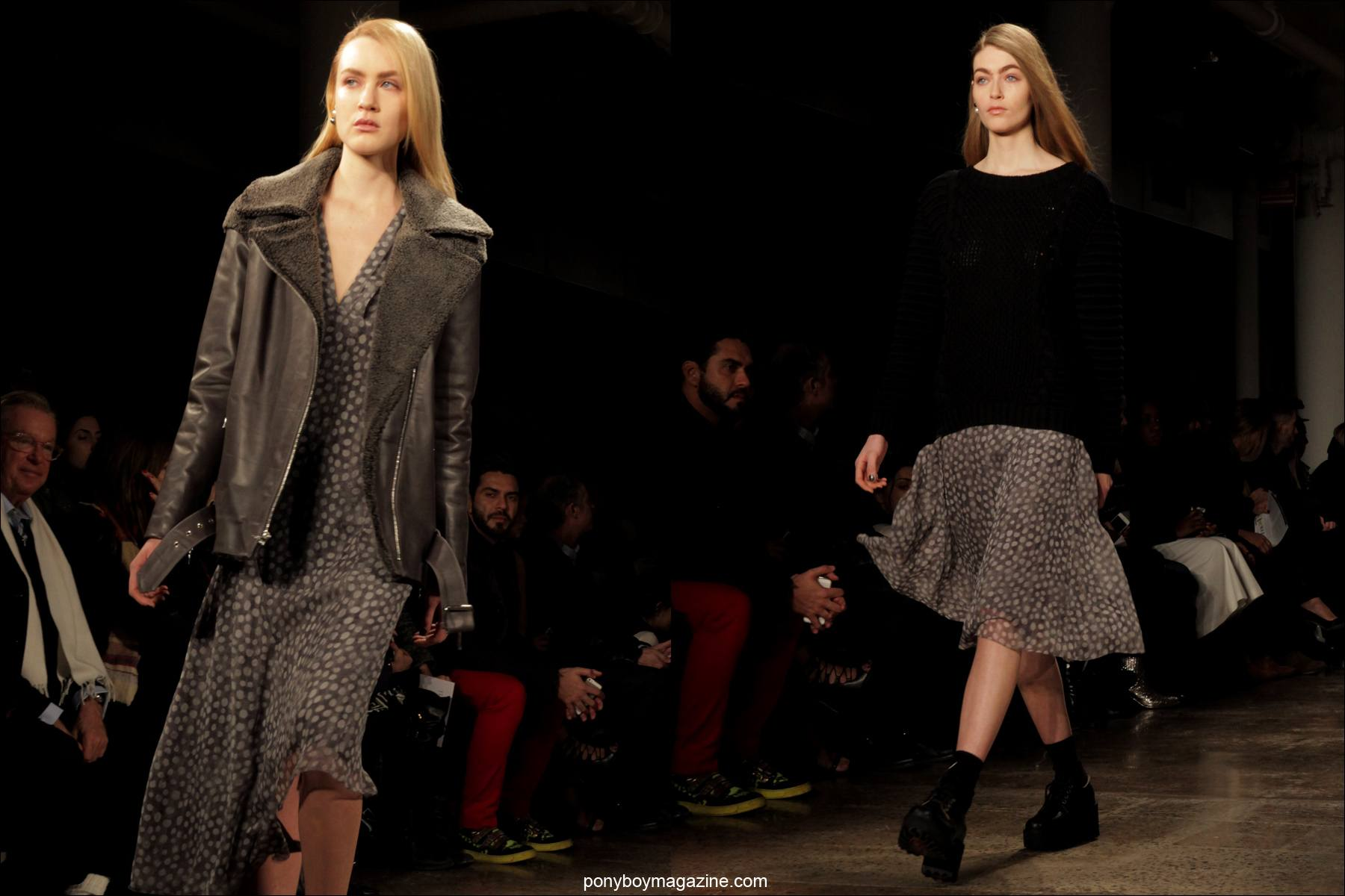 The latest fall/winter designs on the runway at the Timo Weiland A/W 2014 fashion show. Photographed for Ponyboy Magazine by Alexander Thompson during NYFW.