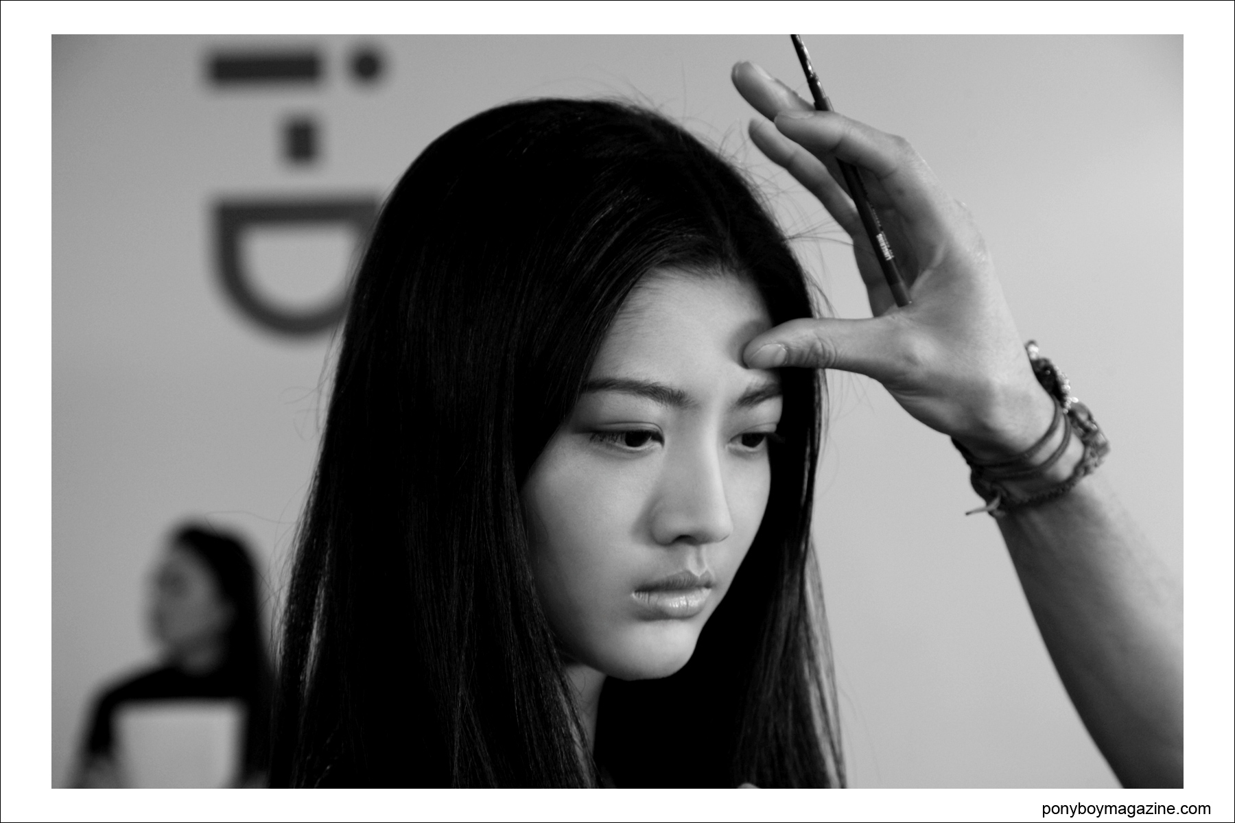 Asian beauty backstage for Timo Weiland A/W 2014, photographed by Alexander Thompson for Ponyboy Magazine.